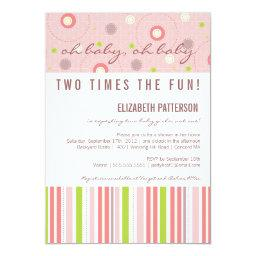 Patterns of Fun Twin Girl Baby Shower