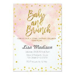 Peach Baby Shower Brunch