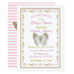 Personalized Baby Girl Butterfly Baby Shower
