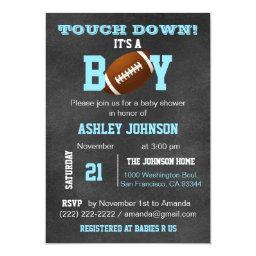Personalized Chalkboard Football Theme Baby Shower