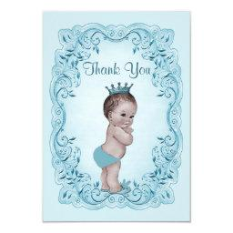Personalized Vintage Prince Baby Shower Thank You