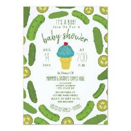 Pickles and Ice Cream Boy Baby Shower