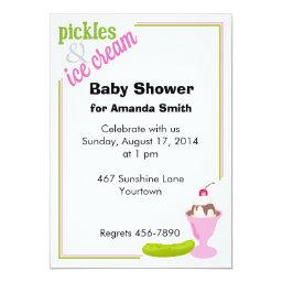 Pickles & Ice Cream Baby Shower Invite