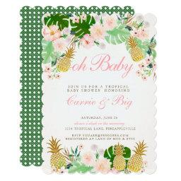 Pineapple Tropical Baby Shower Invite