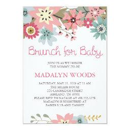 Pink and Blue Floral Brunch for Baby