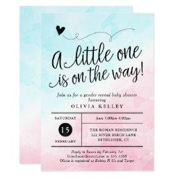 Pink And Blue Watercolor Baby Shower