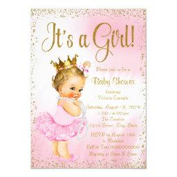 Pink and Gold Ballerina Tutu Pearl Baby Shower