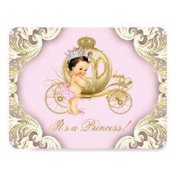 Pink and Gold Carriage Royal Princess Baby Shower