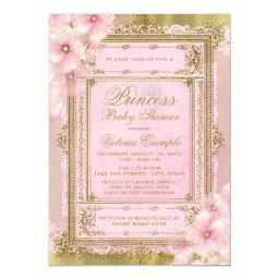 Pink and Gold Foil Princess Baby Shower