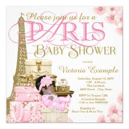 Pink And Gold Paris Ethnic Girl Baby Shower