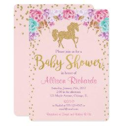 Pink and gold Unicorn baby shower