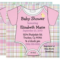 Pink Baby Outfit Shower
