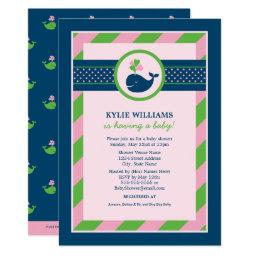 Pink   | Navy Nautical Whale