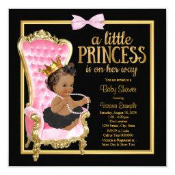Pink Black Gold Chair Ethnic Princess Baby Shower