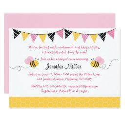 Pink Bumble Bee Baby Shower