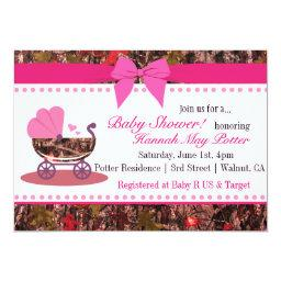 Pink Camo Baby Shower Party