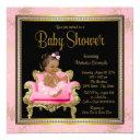 Pink Chair Lace Pearls Ethnic Girl Baby Shower