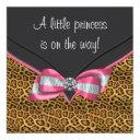 Pink Cheetah Princess Baby Shower Invitation