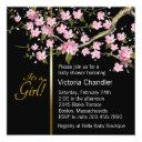 Pink Cherry Blossom Baby Shower Invitation