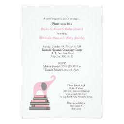 Pink Elephant Book Baby Shower / Books Brunch girl