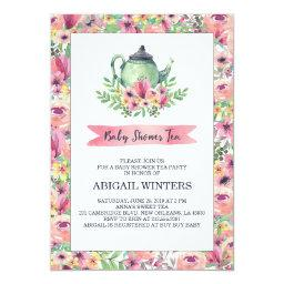 Pink Floral Baby Shower Tea Party