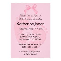 Pink Footprints Baby Shower