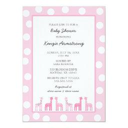 Pink Giraffe baby shower or birthday party