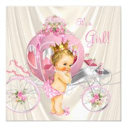 Pink Gold and Ivory Pearl Princess Baby Shower
