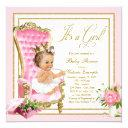 Pink Gold Chair Princess Pearl Tutu Baby Shower