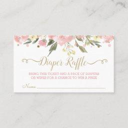 Pink Gold Watercolor Floral