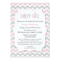 Pink Gray Girl  Invites bring a book