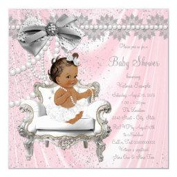 Pink Gray Pearl Chair Ethnic Girl