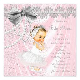 Pink Gray Satin Pearl Little Lady