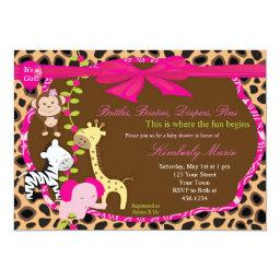 Pink Jungle Baby Shower