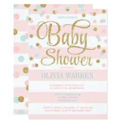 Pink Mint And Gold Baby Shower