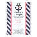 Pink Navy Anchor Nautical
