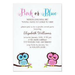 Pink or Blue? Owls Gender Reveal Party