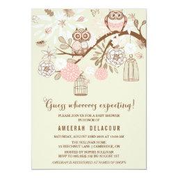Pink Owls and Birdcages Baby Shower