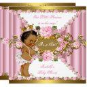 Pink Roses White Gold Princess Baby Shower Ethnic