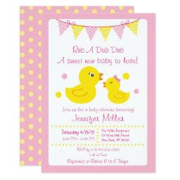 Pink Rubber Duck Baby Shower