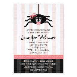 Pink Spider Halloween Baby Shower