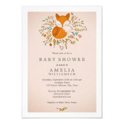Pink Sweet Woodland Fox Baby Shower