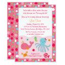 Pink Under The Sea Baby Shower Invitations