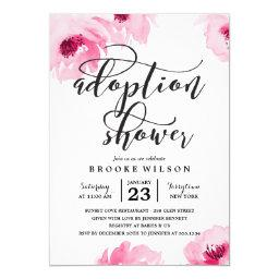 Pink Watercolor Roses Adoption Baby Shower