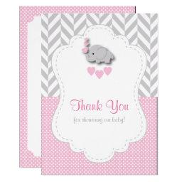 Pink, White Gray Elephant Thank You