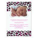Pixdezines Cheetah/birth Announcement/shower Invitations