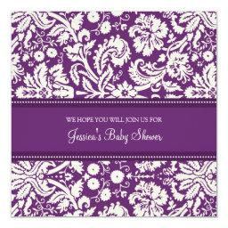 Plum Damask Custom