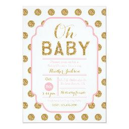 Polka Dot Baby Shower  - Pink and Gold