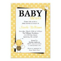 Polka Dot Bumble Bee Baby Shower