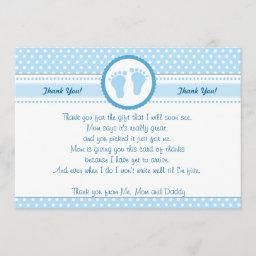 Polka Dots Baby Shower Thank You  Blue Boy
